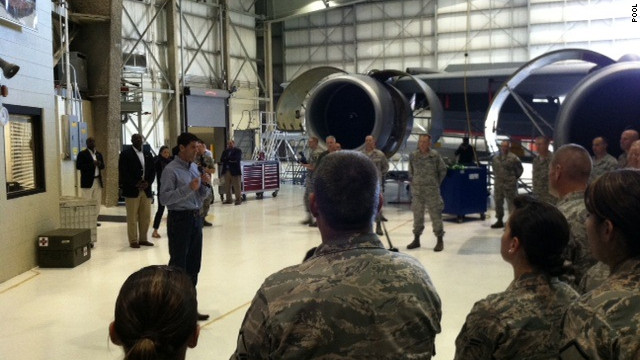 Paul Ryan meets with troops, first responders