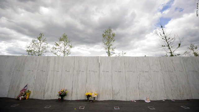 Flowers are left Monday at the Flight 93 National Memorial in Shanksville, Pennsylvania, prior to ceremonies commemorating the 11th anniversary of the 9/11 attacks.