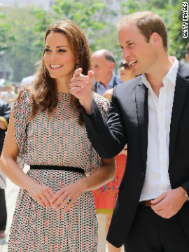 Catherine and Prince William watch demonstrations as they attend a cultural event in Queenstown on Wednesday.
