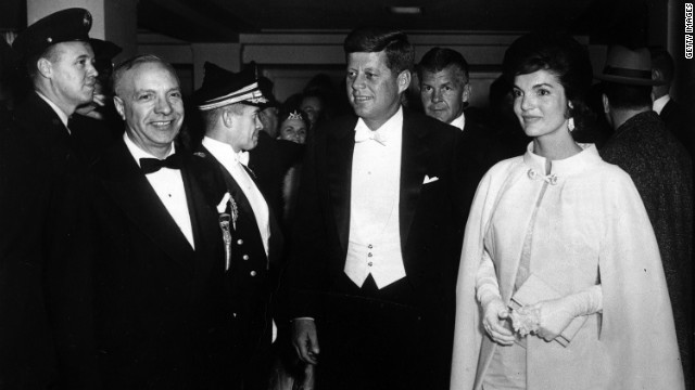 President John F. Kennedy and first lady Jacqueline Kennedy attend the inaugural ball. Jackie O often sought Vreeland's guidance on style, particularly American designers. &quot;To say Diana Vreeland has dealt only with fashion trivializes what she has done. She has commented on the times in a wiseand witty manner. She has lived a life,&quot; Onassis said.