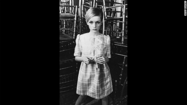 "Vreeland championed Twiggy, already a British sensation, into American advertising. Twiggy's slightly adrogynous look and waif-like, pixie frame would soon catch on and become the ""it"" look for the fashion world."