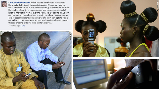 Others talked about how mobile phones have brought a better quality of life and improved the standards of living.