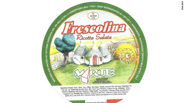 Twenty-two cases were reported of a Listeria monocytogenes infection from the Frescolina Marte brand of ricotta salata cheese in 2012, but 90% of those people were hospitalized, and four people died, according to the <a href='http://www.cdc.gov/listeria/outbreaks/cheese-09-12/index.html' target='_blank'>CDC</a>.