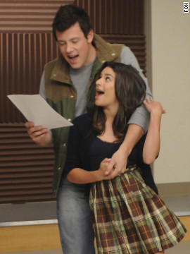 """Glee's"" Finn and Rachel, played by Corey Monteith and Lea Michele, respectively, have been dating on and off since the series premiered on Fox. But the actors' real-life relationship seems to be going well. The pair first <a href='http://hollywoodlife.com/2012/08/20/lea-michele-cory-monteith-dating-red-carpet-do-something-awards-pics/' target='_blank'>walked the red carpet</a> together at the Do Something Awards in August."