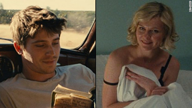 """On the Road's"" Garrett Hedlund and Kirsten Dunst have been <a href='http://www.justjared.com/2012/06/11/kirsten-dunst-garrett-hedlund-watermelon-walk/' target='_blank'>spotted out together</a> since filming the drama based on Jack Kerouac's novel. Hedlund plays Dean Moriarty in the movie, while Dunst plays Dean's second wife, Camille."
