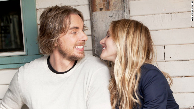 Kristen Bell and Dax Shepard appeared together in 2010's &quot;When in Rome&quot; and 2012's &quot;Hit and Run,&quot; which Shepard also wrote and co-directed. The pair got engaged in 2010, but &lt;a href='http://marquee.blogs.cnn.com/2012/08/23/dax-shepard-kristen-bell-well-get-married-when-our-gay-friends-can/' target='_blank'&gt;said they won't get married&lt;/a&gt; until their gay friends are able to, as well. &quot;We're not going to ask them to come celebrate a right they don't have,&quot; Shepard told CNN in August. &quot;That's just tacky!&quot;