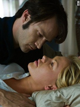 "Anna Paquin and husband Stephen Moyer battle supernatural characters on HBO's ""True Blood,"" but in real life they're <a href='http://www.usmagazine.com/celebrity-moms/news/anna-paquin-stephen-moyer-welcome-twins-2012119' target='_blank'>raising twins.</a>"