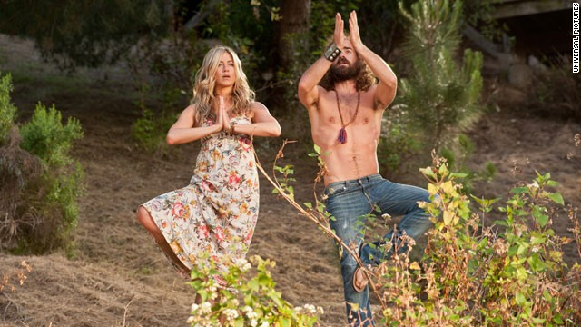 """Wanderlust"" co-stars Jennifer Aniston and Justin Theroux went public with their relationship in 2011, and announced their <a href='http://www.cnn.com/2012/08/12/showbiz/aniston-engaged/index.html' target='_blank'>engagement </a>the next year."