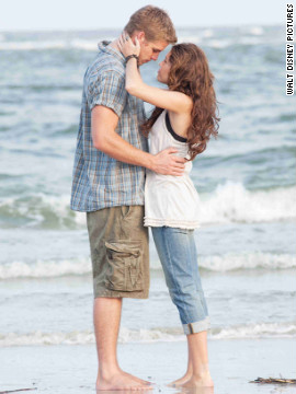 "Miley Cyrus and Liam Hemsworth's chemistry was evident in the 2010 Nicholas Sparks adaptation of ""The Last Song."" Hemsworth <a href='http://www.cnn.com/2012/06/06/showbiz/miley-cyrus-engaged/index.html' target='_blank'>proposed </a>to the former ""Hannah Montana"" star in May with a 3.5-carat diamond."