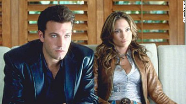 "Jennifer Lopez and Ben Affleck, or should we say ""Bennifer,"" starred together in ""Gigli."" The 2003 film flopped at the box office, earning just over $3 million its opening weekend. The couple became engaged, but split in 2004. Affleck began dating his ""Daredevil"" co-star, Jennifer Garner, soon after. The couple married in 2005. They have three children together."
