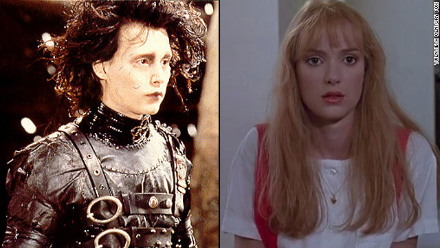 "Johnny Depp and Winona Ryder dated after co-starring in ""Edward Scissorhands"" in 1990. Depp had<a href='http://www.people.com/people/archive/article/0,,20110655,00.html' target='_blank'> ""Winona Forever""</a> tattooed on his bicep, but has since amended the ink."