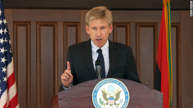 Ambassador Chris Stevens, pictured in August in Tripoli, Libya, died in a September attack on the U.S. Consulate in Benghazi.