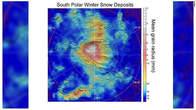 La NASA descubre que nieva hielo seco en Marte