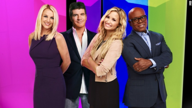 Britney Spears, Simon Cowell, Demi Lovato, and L.A. Reid are judges this season on
