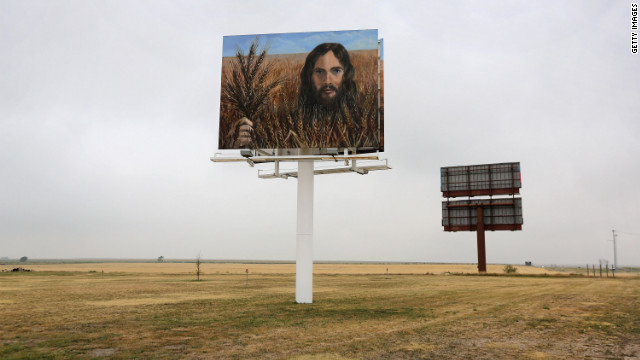  A billboard, &quot;Jesus in the Wheat,&quot; stands alongside Interstate 70 on August 24 in Colby, Kansas. The billboard was erected by local residents Tuffy and Linda Taylor. &quot;We just put it up there to minister,&quot; Linda Taylor told the Hays Daily News.
