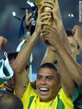 Ronaldo has scored more goals in FIFA World Cup matches than any other player in history. With his trademark quick step-over and a simple finish against Ghana in a round of 16 match in 2006, he scored his 15th and final World Cup goal to overhaul the legendary German Gerd Muller.