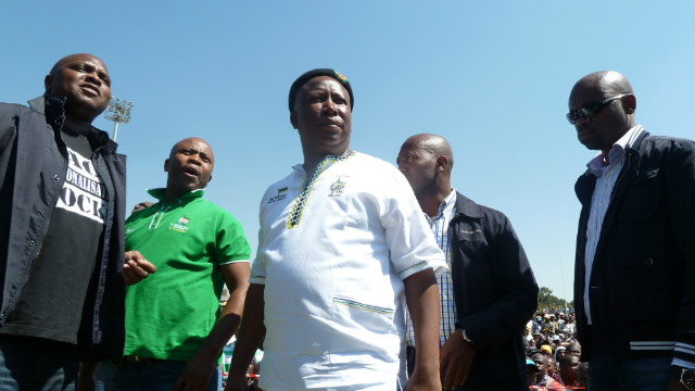 Malema said workers should walk off the job in protest and solidarity for five days each month.