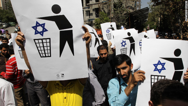 Iranians protest against a film mocking Islam near the Swiss Embassy in Tehran on Thursday. Up to 500 people chanted