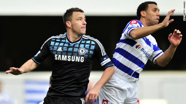 Chelsea's John Terry (L) was found not guilty in a criminal court of racially abusing Queens Park Rangers defender Anton Ferdinand but received a four-match ban from the FA and a $356,000 fine for calling his opponent a &quot;f*****g black c***.&quot;