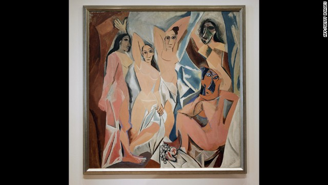 "Pablo Picasso's ""Les Demoiselles d'Avignon"" from 1907 may be especially pleasing to the eye because it exaggerates human forms, showing influences of the cubism movement."