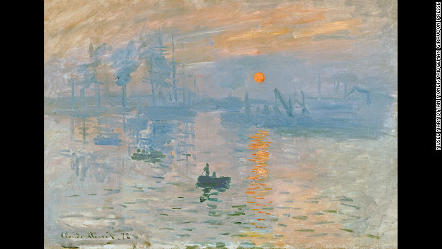 "In ""Impression Sunrise"" by Claude Monet, circa 1873, the artist makes the sun look unusually bright by choosing an orange with the same luminance as the background, says Margaret Livingstone of Harvard University."
