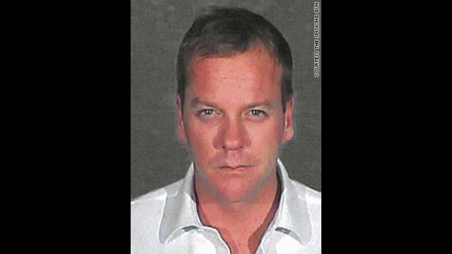 Kiefer Sutherland got this mug shot after surrendering to serve a 48-day sentence for his third DUI arrest.