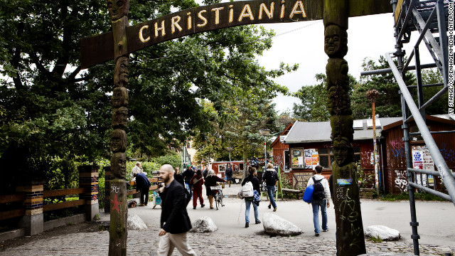 Copenhagen's &quot;free town,&quot; Christiania, is a hippie enclave in the heart of the city.