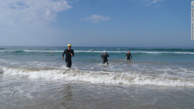 Going 'old-school' at the Malibu triathlon