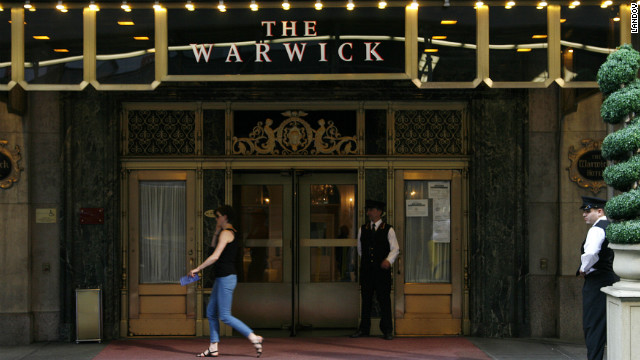 Bombing victim Stuart Hersh is suing the Warwick Hotel, seen here in Midtown Manhattan in 2008. 