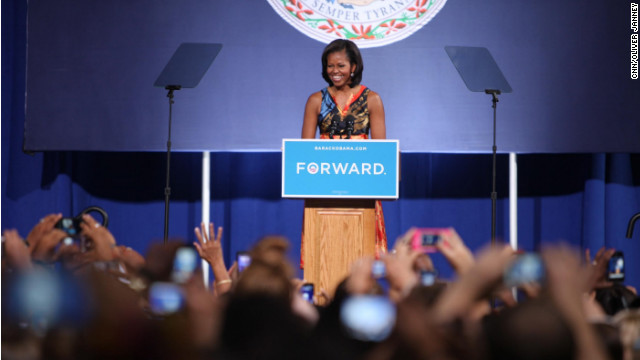 Convention echo – Michelle Obama stumps in Virginia