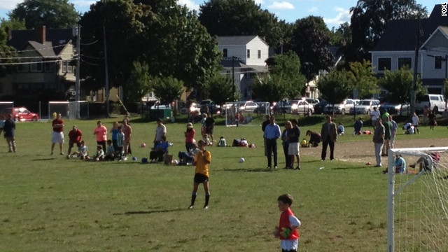 Romney attends grandson's soccer game