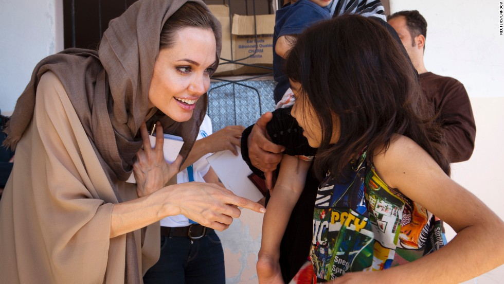 After filming a movie in Cambodia, actress Angelina Jolie began to visit refugee camps around the world. In 2001, she was named a goodwill ambassador by the U.N. Refugee Agency. Since then, Jolie has visited refugee camps in more than 30 countries, and she was appointed special envoy of the U.N. Refugee Agency in April 2012. Here are some other celebrities' forays into international diplomacy.
