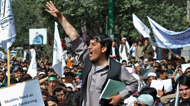 Afghan protest over anti-Islam film turns into melee; leaves 15 policemen injured