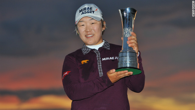 South Korea's Shin Jiyai also won the women's British Open in 2008.