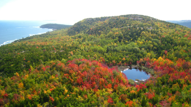 The Great Meadow Loop Trail takes about an hour. It connects walkers to several popular parts of Acadia National Park and can take them back into the town of Bar Harbor.