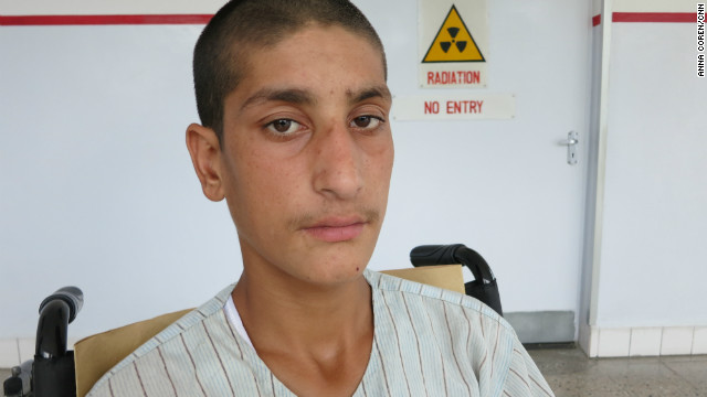 Naweed said he was collecting water when the bomb went off, and the force of the explosion sent him flying ten meters.