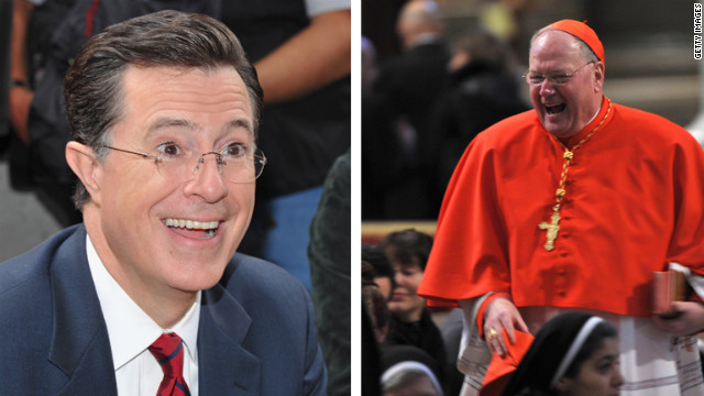 Stephen Colbert roasts the Pope