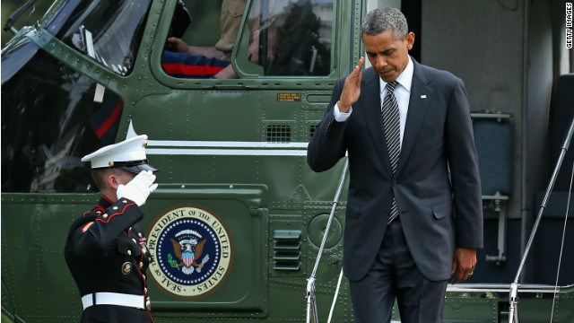 President Obama returns to the White House from a ceremony for the transfer of the remains of Ambassador Christopher Stevens and three other embassy employees who were killed when the consulate in Libya was attacked. 