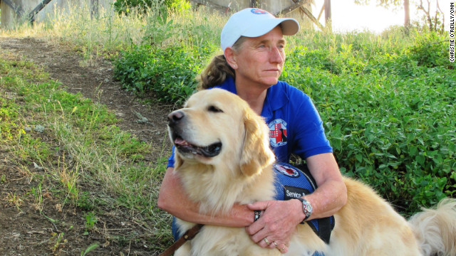 "Mary Cortani is a former Army dog trainer who started Operation Freedom Paws, a nonprofit that helps war veterans <a href='http://www.cnn.com/2012/06/07/us/cnnheroes-cortani-veterans-dogs/index.html'>train their own service dogs</a>. Since 2010, she has worked with more than 80 veterans who have invisible wounds such as post-traumatic stress disorder. ""I'm hoping this brings awareness to the world that PTSD is real and that we will be able to reach more veterans who so desperately need help,"" Cortani said. <a href='http://www.cnn.com/2012/11/26/us/gallery/heroes-cortani/index.html' target='_blank'>See more photos of Mary Cortani</a>"