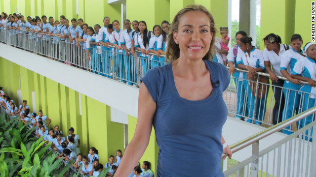 "Catalina Escobar is <a href='http://www.cnn.com/2012/08/16/world/americas/cnnheroes-catalina-escobar/index.html'>helping young moms</a> in Colombia, where one in five girls age 15-19 is or has been pregnant. Since 2002, her foundation has provided counseling, education and job training to more than 2,000 teenage mothers. ""Teenage pregnancy is a wor"