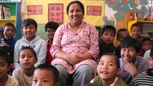Pushpa Basnet was shocked to learn that children in Nepal were living in prisons with their parents. In 2005, she started a children's center that has provided housing, education and medical care to more than 140 children of incarcerated parents. &quot;I always had a dream to build our own home for these children, and I want to rescue more children who are still in prisons,&quot; Basnet said. See more photos of Pushpa Basnet, who was voted CNN Hero of the Year for 2012.