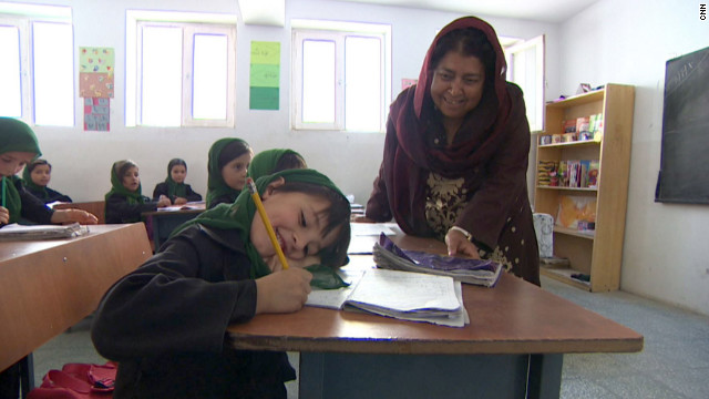 "Razia Jan is fighting to educate girls in rural Afghanistan, where terrorists <a href='http://www.cnn.com/2012/08/02/world/meast/cnnheroes-jan-afghan-school/index.html'>will stop at nothing</a> to keep them from learning. She and her team at the Zabuli Education Center are providing a free education to about 350 girls, many of whom wouldn't normally have access to school. ""This honor is a God-given gift that will make it possible for me to continue to give a ray of hope to these girls,"" Jan said. ""My goal is to break the cycle of violence."" <a href='http://www.cnn.com/2012/11/26/asia/gallery/heroes-jan/index.html' target='_blank'>See more photos of Razia Jan</a>"