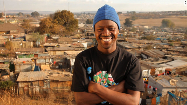"Thulani Madondo struggled as a child growing up in the slums of Kliptown, South Africa. Today, his Kliptown Youth Program provides school uniforms, tutoring, meals and activities to 400 children in the community. ""We're trying to give them the sense that everything is possible,"" he said. See more photos of Thulani Madondo"