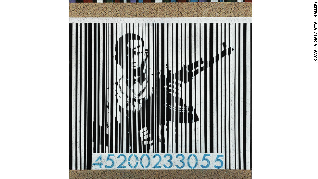 In &quot;Barcode 1,&quot; said Diab, the child behind the barcode is the victim of people who are dealing in weapons and driving children to take up arms for their own interests. 
