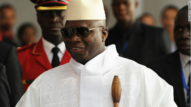 Gambia's President Yahya Abdul-Aziz Jemus Junkung Jammeh, pictured here on July 15, 2012.