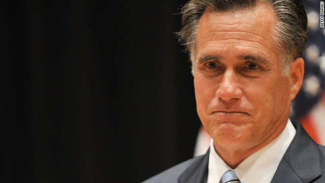 GOP candidate Mitt Romney held a brief news conference late Monday to address the video footage.