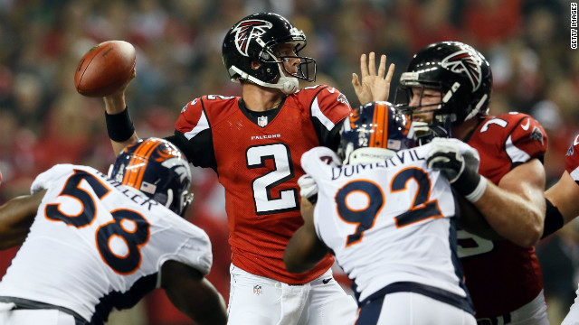 Atlanta Falcons quarterback Matt Ryan looks to throw the ball during the game against the Denver Broncos at the Georgia Dome in Atlanta on Monday, September 17. Check out the action from Week 2 of the 2012 National Football League season, and look back at the best of Week 1.