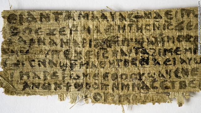 Newly revealed Coptic fragment has Jesus making reference to 'my wife'