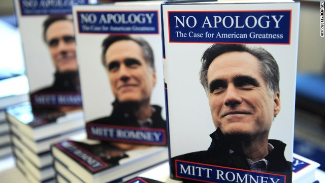 Nicolaus Mills says the title of Mitt Romney's book shows how much he hates apologies.