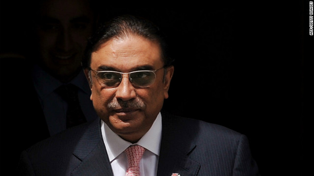 Until now the Pakistani government has always insisted that President Asif Ali Zardari, pictured, enjoys immunity.